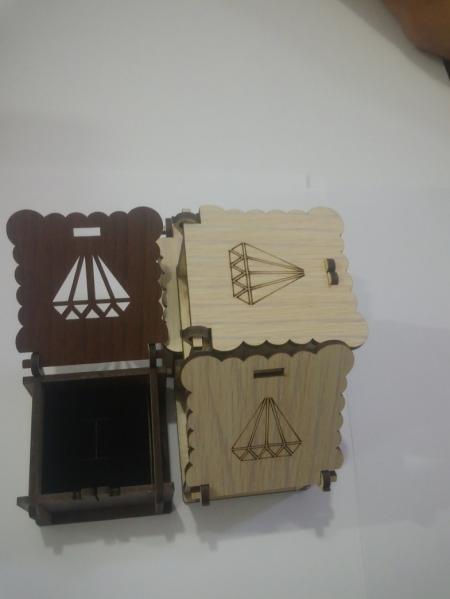 جعبه چوبی انگشتر کد 1
