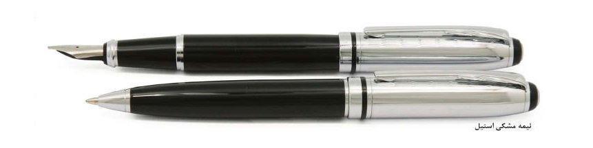 خودکار و خودنویس FORT(نیمه مشکی استیل)