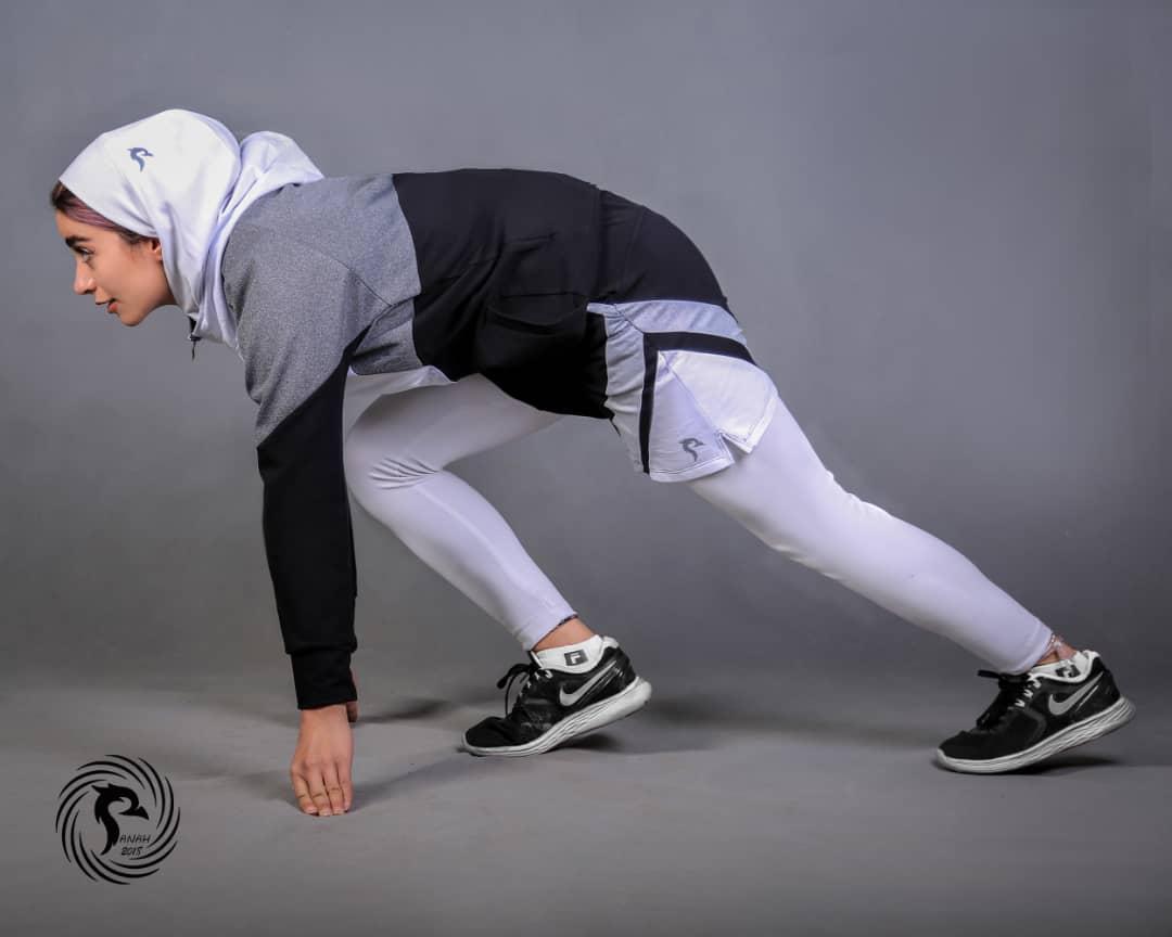 حجاب سر ورزشی/ سفید