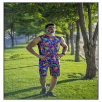 تاپ، شلوارک و ماسک مردانه طرح رنگارنگ