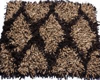 گلیم فرش کرم قهوه ای سوخته- سفارشی لوزی