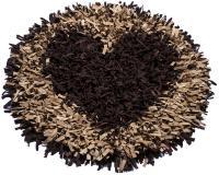 جلومبلی گرد کرمی قهوه ای-سفارشی قلب