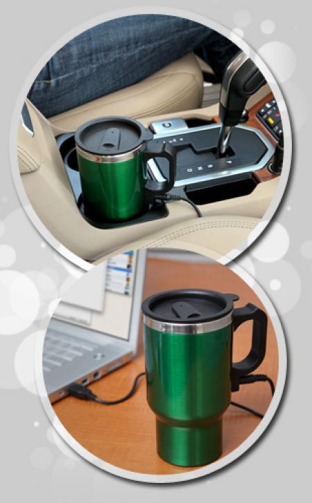 قهوه جوش و چایساز ویژه فندکی خودرو / Stainless