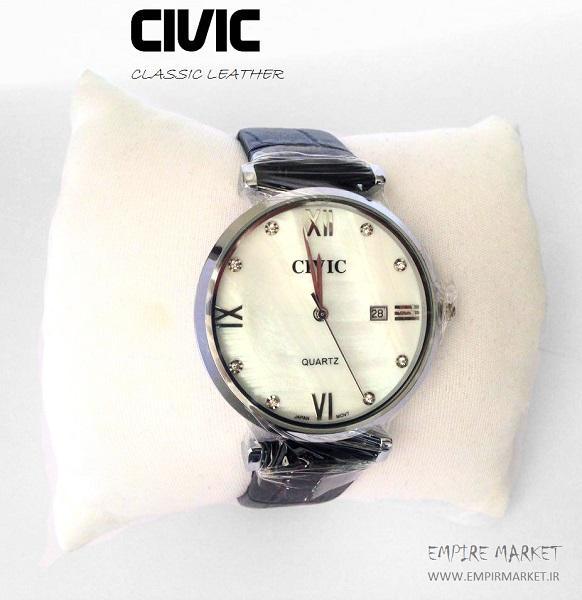 ساعت مچی بند چرمی مردانه سیویک CIVIC (ساخت ژاپن)