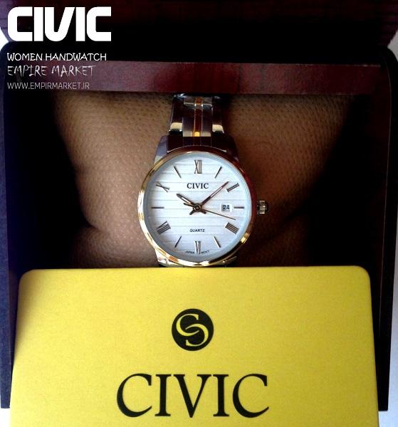ساعت مچی تمام فلزی سیلورگلد زنانه سیویک CIVIC (ساخت ژاپن)