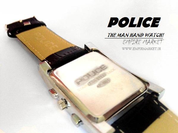 ساعت مچی مردانه پلیس (بند چرمی طرح POLICE)