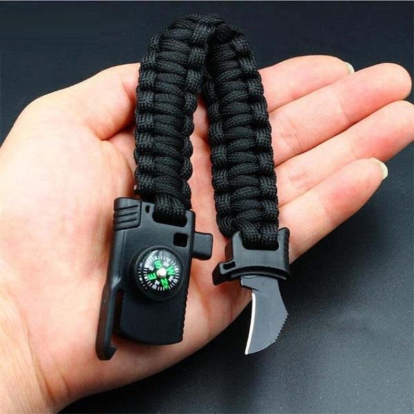 دستبند چاقو دار پاراکورد تاکتیکال PARACORD BRACELET