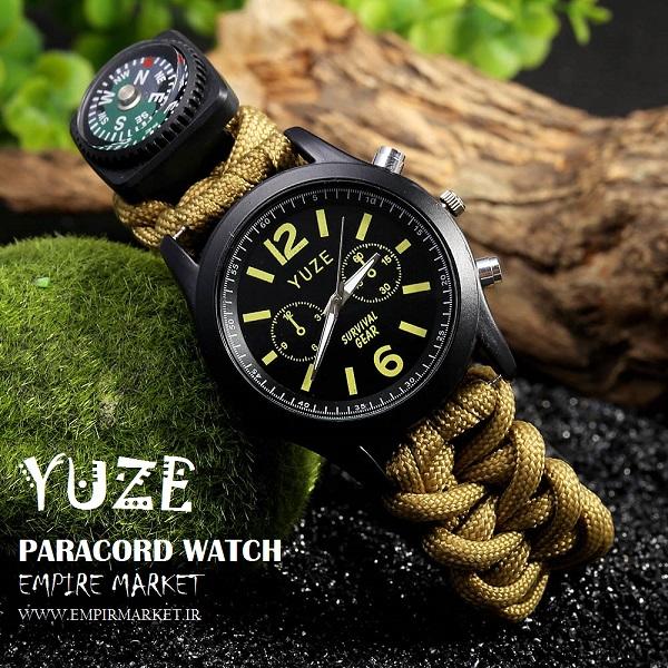 ساعت مچی پاراکورد (تاکتیکال تکاوری) YUZE PARACORD