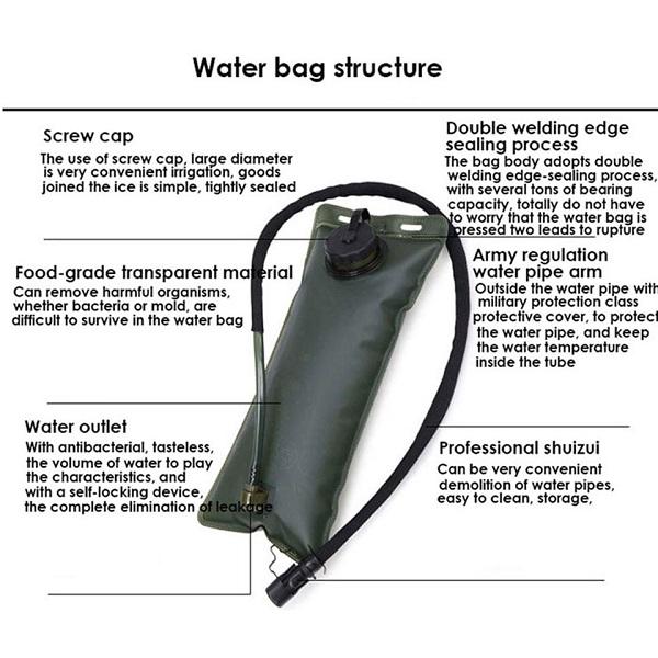 کیسه آبنوش تاکتیکال (مشک آب)
