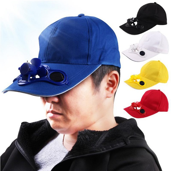 کلاه فن دار خورشیدی هوشمند (سولار)