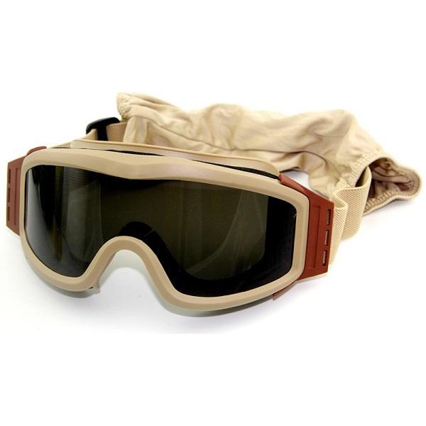 عینک تاکتیکال ضد طوفان 3لنز windproof