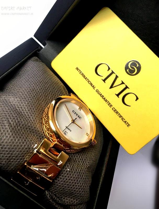 خرید ساعت مچی فول استیل گلد زنانه سیویک CIVIC (ساخت ژاپن)