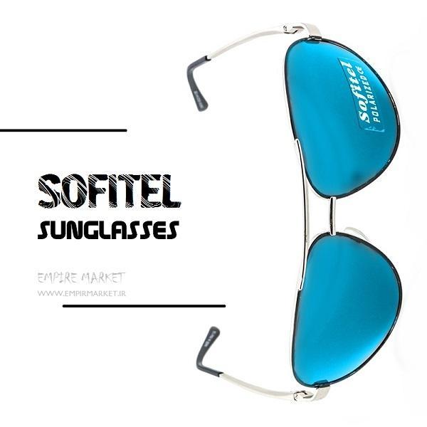 عینک آفتابی فریم سیلور لنز آبی سوفیتل SOFITEL blue