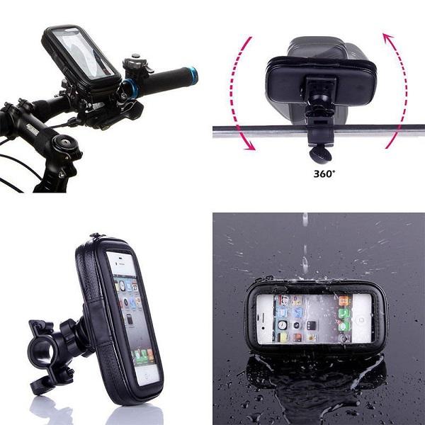 هولدر موبایل دورفرمانی موتورسیکلت و دوچرخه (استند ضدآب)