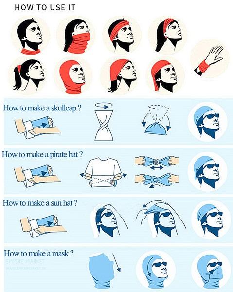 اسکارف تاکتیکال طرح استتار چریکی و شکاری (دستمال سر) |