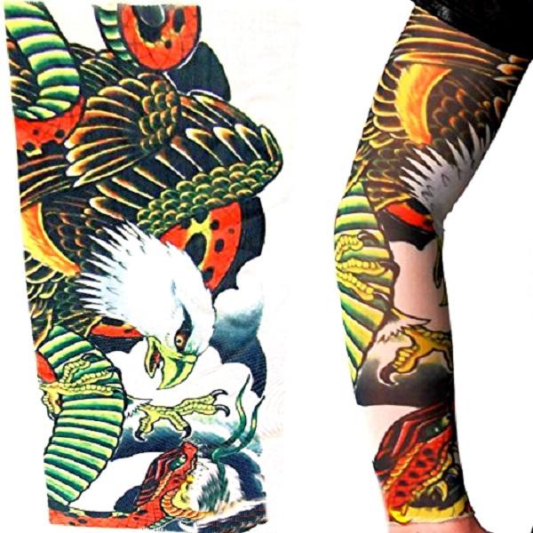 کاور ساق دست طرح تتو مدل عقاب و مار