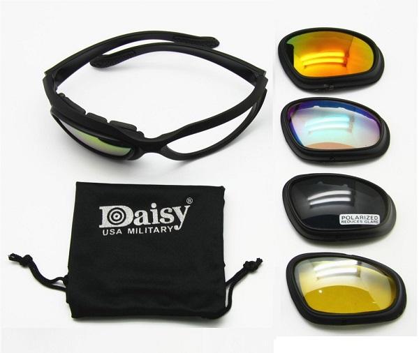 ست عینک تاکتیکال دایزی 4لنز DAISY