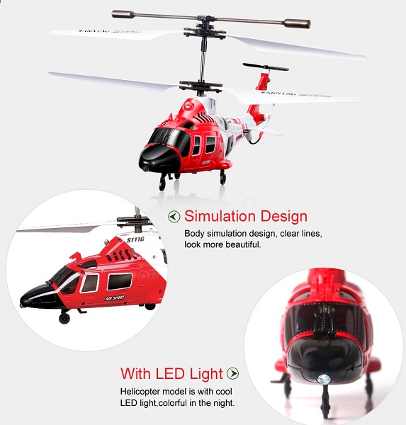 هلیکوپتر کنترلی مدل ماکت بالگرد آگوستا SYMA S111G
