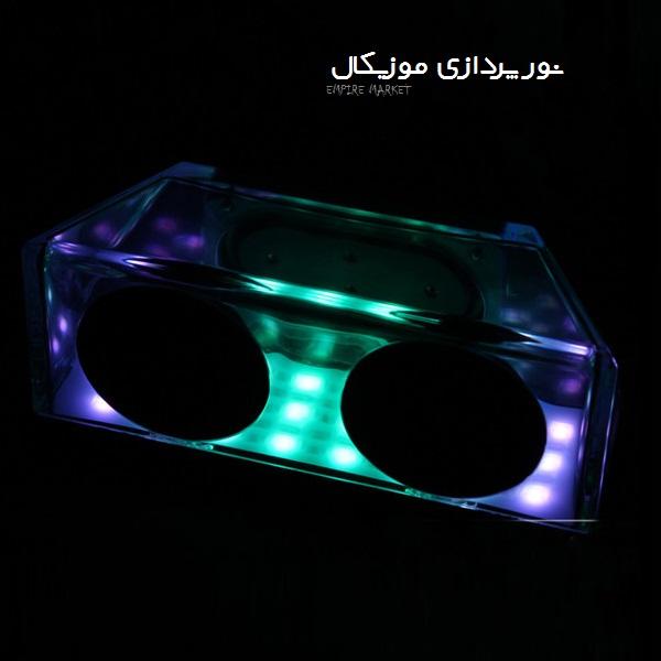 اسپیکر رومیزی 3D رقص نور دار X3 (کریستالی)