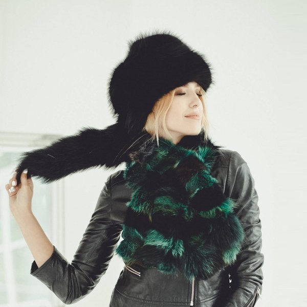 کلاه روسی زنانه خز روباه Russian Fox Hat