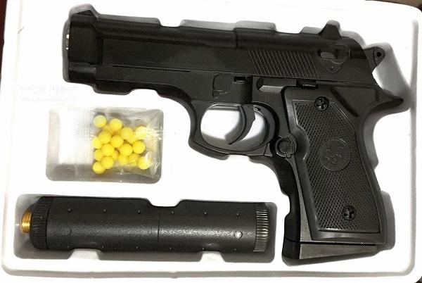 تفنگ ایرسافت فلزی مدل کلت برتا (دارای صدا خفه کن) |