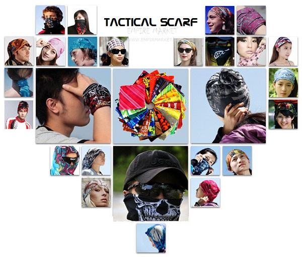 اسکارف تاکتیکال داخل پولار طرح نقاب اسکلت چریکی (دستمال سر)
