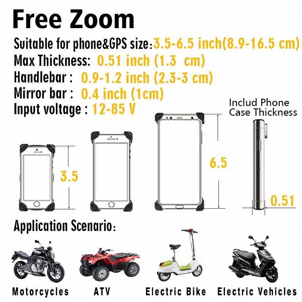 هولدر موبایل و شارژر مخصوص موتورسیکلت و دوچرخه new
