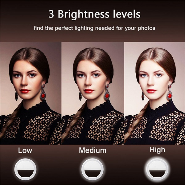 رینگ لایت سلفی دوربین موبایل Ring Light RK-12
