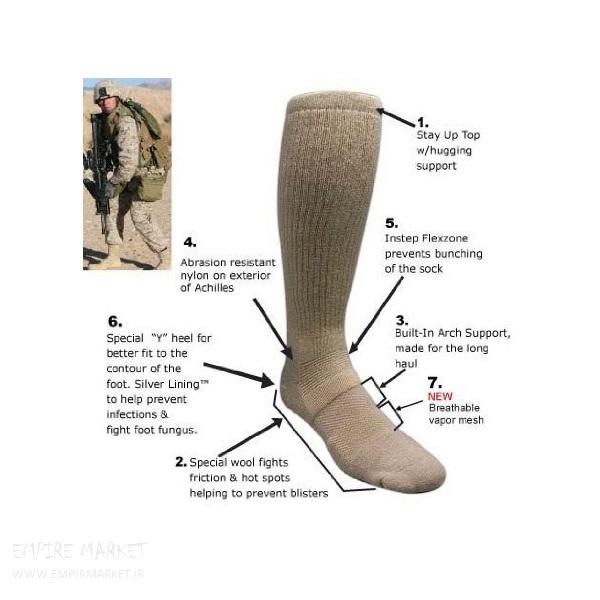 جوراب آمریکایی اورجینال آنتی میکروبال (ساق بلند)