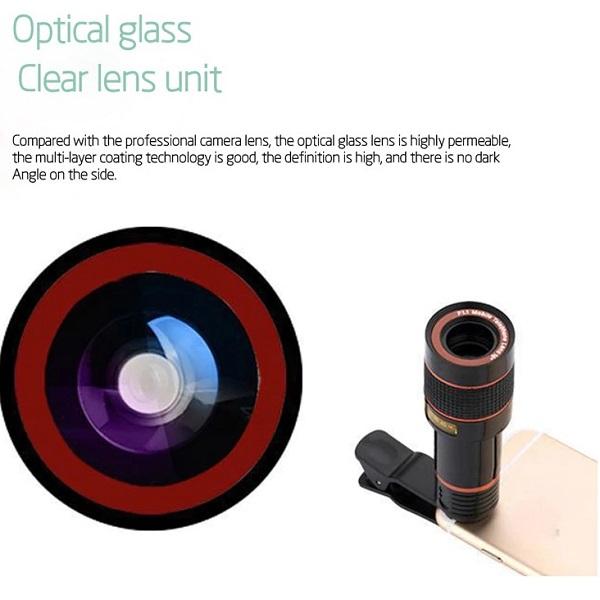 لنز تلسکوپی کلیپسی موبایل 12X