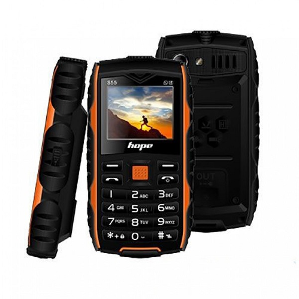 گوشی موبایل ضدضربه و ضدآب هوپ HOPE S55