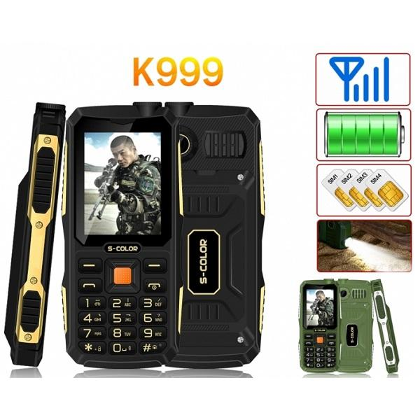 گوشی موبایل زره پوش و ضدآب S-COLOR K999