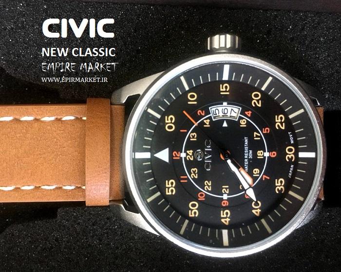 ساعت مچی چرمی مردانه سیویک 9044 CIVIC (ساخت ژاپن)