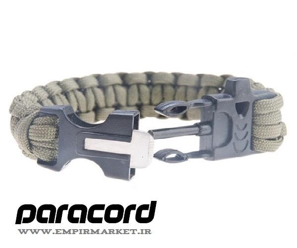 دستبند کاربردی تاکتیکال چریکی پاراکورد PARACORD BRACELET