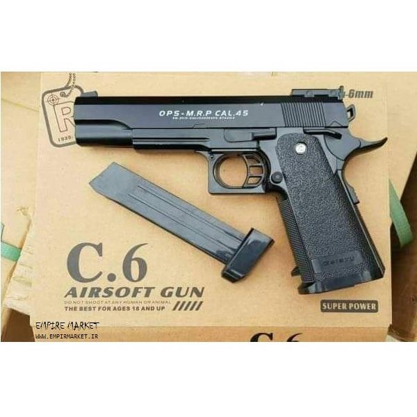 تفنگ ایرسافت فلزی مدل کلت C.6