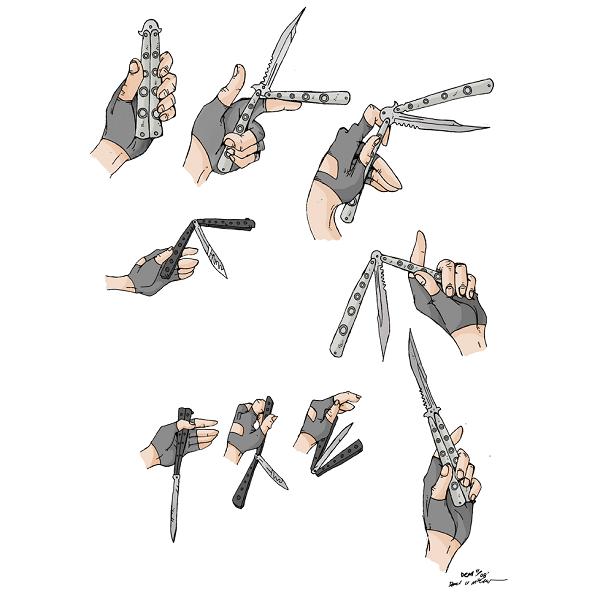 چاقوی بالیسانگ پروانه ای (تاکتیکال)