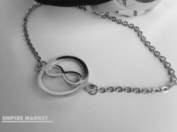 دستبند فلزی طلایی بانوان stainless (رنگ ثابت)