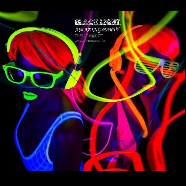 تیشرت بلک لایت طرح اسکلت BlackLight DJ