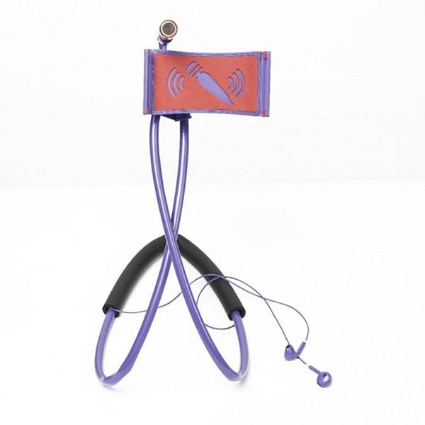 هولدر موبایل گردنی (ست مجهز به هندزفری و میکروفون)