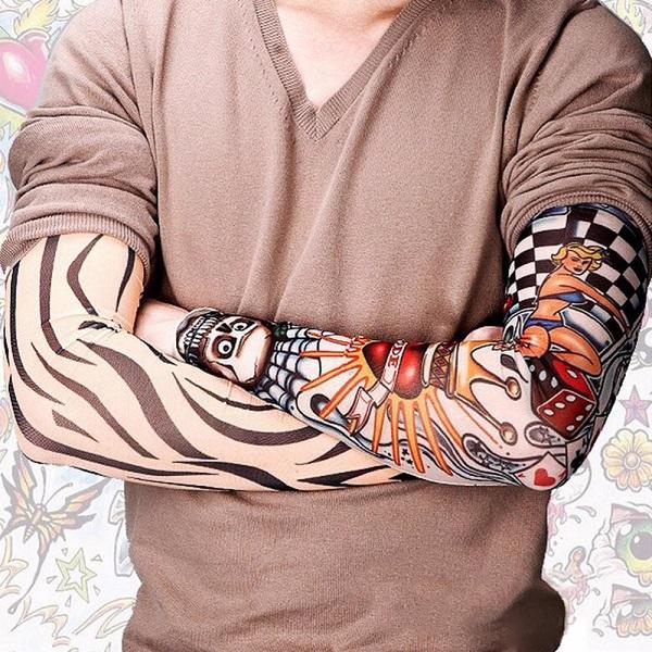 کاور ساق دست طرح تتو مدل جمجمه دراگون