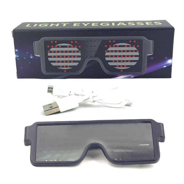 عینک LED نوری هوشمند SL-003 (فانتزی)