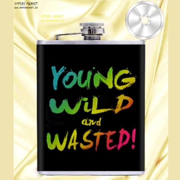هیپ فلاسک طرح YOUNG WILD and WASTED (استیل)