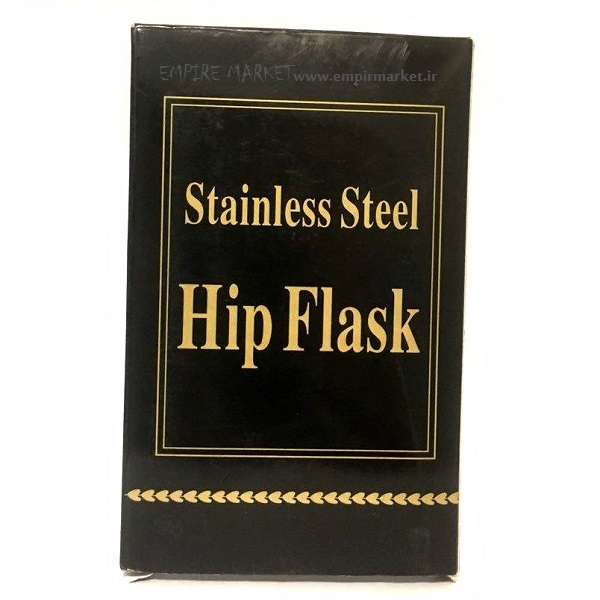 هیپ فلاسک (قمقمه جیبی) استیل کلاسیک کاور چرمی