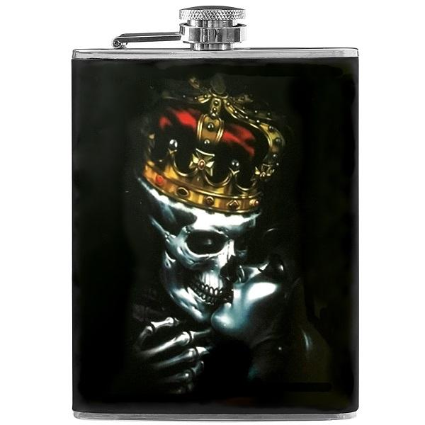 هیپ فلاسک طرح اسکلت Kiss of Death (استیل)