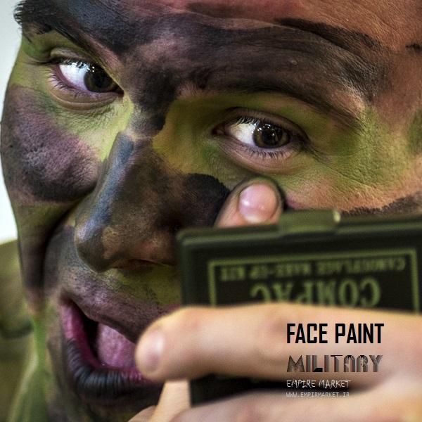 پینت فیس استتار چریکی نظامی CAMO (کرم استتار چهره)