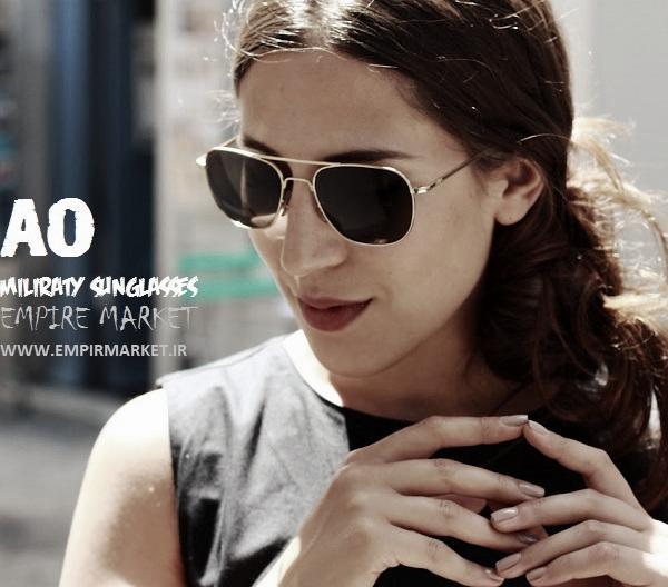 عینک آفتابی خلبانی آمریکن اپتیکال AO sunglasses |
