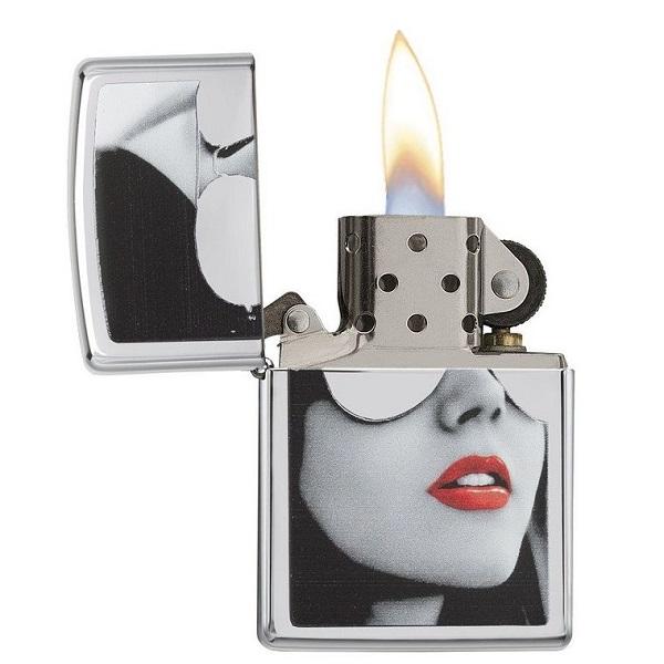 فندک بنزینی زیپو فشن مدل ZIPPO Gasoline Lighter girl face