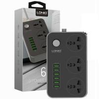هاب آداپتور USB شارژر 6 پورت فست و سه راهی الدینیو LDNIO SC3604