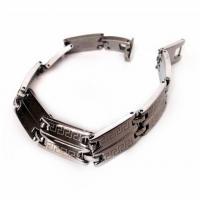 دستبند فلزی تیتانیومی مردانه VERSACE (درجه یک)