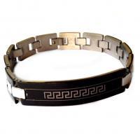 دستبند فلزی تیتانیومی مردانه دو رنگ VERSACE